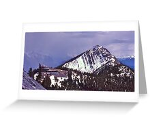 Snowstorm, Sulphur Mountain, Banff, Alberta, Canada. Greeting Card