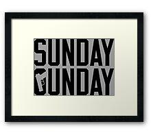 Sunday Gunday Framed Print