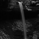 Broke Leg Falls in Black and White by Kent Nickell