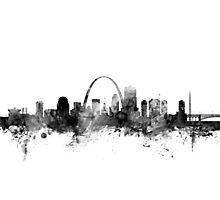 St Louis Missouri Skyline Photographic Print