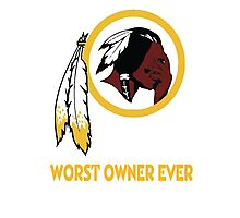 Celebrate the Redskins by owning something stating the obvious.  Photographic Print