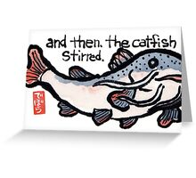 Earthquake Catfish Greeting Card