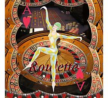 Lady Luck , casino , roulette, playing cards, gaming image Photographic Print