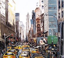 New York Traffic by Trisha Lamoreaux