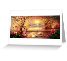"""Tsjaikovski Dream at Swan Lake"" Greeting Card"