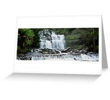 Waterfall in Tasmania  -  Australia  -  panorama Greeting Card