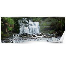Waterfall in Tasmania  -  Australia  -  panorama Poster