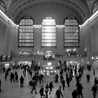 Grand Central - Black & White by Graciela Maria Solano