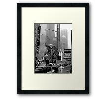 The Lights of Broadway Framed Print