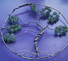 Tree of life pendant - handmade - with  semi precious gemstones by anaisnais