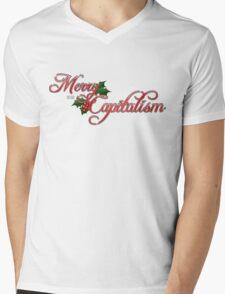 Merry Capitalism Mens V-Neck T-Shirt
