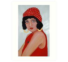 Sabine in a Red Hat Art Print