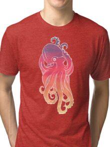 Sunset Sky Octopus Tri-blend T-Shirt