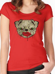 Zombie Pug! Women's Fitted Scoop T-Shirt