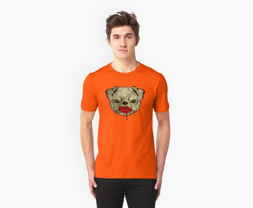 Zombie Pug! by matthewdunnart