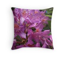 lets pollinate Throw Pillow