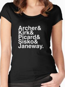 Star trek captains Women's Fitted Scoop T-Shirt