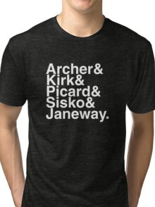 Star trek captains Tri-blend T-Shirt