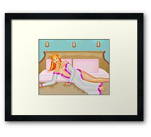 To sleep in comfort (for a change..) Framed Print