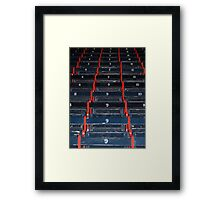 Fenway Wooden Seats Framed Print