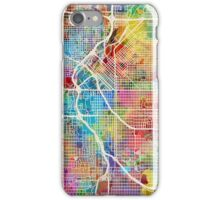Denver Colorado Street Map iPhone Case/Skin