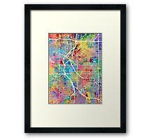 Denver Colorado Street Map Framed Print