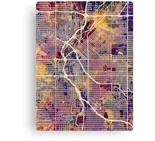 Denver Colorado Street Map Canvas Print
