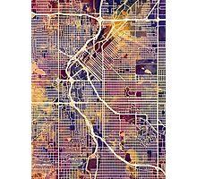 Denver Colorado Street Map Photographic Print
