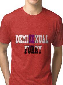 Demisexual Fur Tri-blend T-Shirt