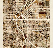 Denver Colorado Street Map by Michael Tompsett