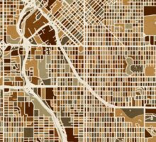 Denver Colorado Street Map Sticker