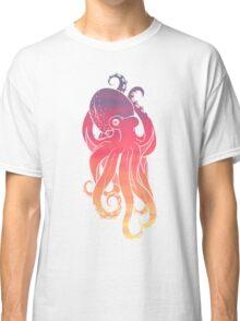 Sunset Sky Octopus (Transparent Lines) Classic T-Shirt