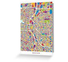 Denver Colorado Street Map Greeting Card