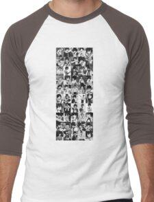 50 Shades of Gray Fullbuster - white txt Men's Baseball ¾ T-Shirt