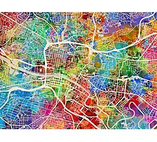 Glasgow Street Map Photographic Print