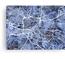 Glasgow Street Map Canvas Print