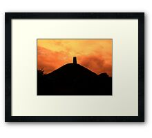 Mystical Glastonbury Framed Print