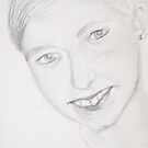 Niece - a pencil drawing  by MIchelle Thompson
