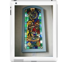 Stained glass window in the Cannongate Kirk, Edinburgh iPad Case/Skin
