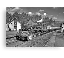 The Moors Explorer at Grosmont Canvas Print