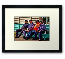 Everything Stops for Tea Framed Print