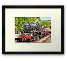 The Moors Explorer at Grosmont Framed Print