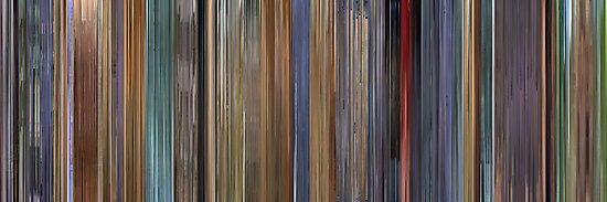 Moviebarcode: A Scanner Darkly (2006) by moviebarcode