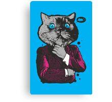 Business Cat Canvas Print