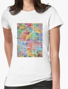 Albuquerque New Mexico City Street Map Womens Fitted T-Shirt