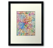 Houston Texas City Street Map Framed Print