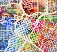 Houston Texas City Street Map Sticker