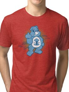 Don't Care Bear (blue) Tri-blend T-Shirt