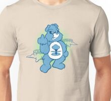 Don't Care Bear (blue) Unisex T-Shirt