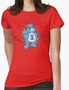 Don't Care Bear (blue) Womens Fitted T-Shirt